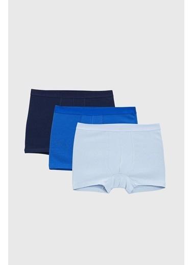 Defacto –Fit 3'lü Paket Boxer Mavi